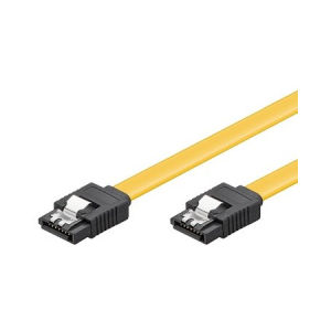 Cabo HDD SATA 1.5GBits / 3GBits / 6GBits S-ATA L-Type > L-Type com clips, 0,5mt - Ewent EW-150101-005-Y-P